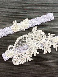 Garter Lace Flower Lace White