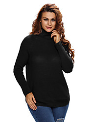 Women's High Neck Pullover Side Zipped Sweater Top