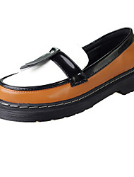 Women's Loafers & Slip-Ons Spring Winter Comfort Microfibre Dress Casual Flat Heel Others Black Brown