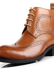 Men's Boots Fall Winter Other Cowhide Outdoor Casual Black Brown Coffee Other