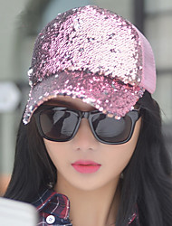Ladies Fashion Spring And Summer Tide Reflective Sequins Hat Leisure Outdoor Baseball Cap