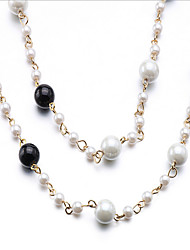 Necklace Choker Necklaces Jewelry Party Circular Design Pearl Women 1set 1pc Gift Coppery