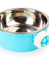 Cachorro Tigelas e Bebedouros Animais de Estimação Tigelas e alimentação de animais Portátil Azul Aço Inoxidável