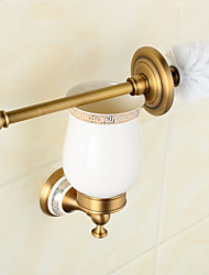 Wall Mounted Bathroom Accessories Brass & Ceramics Toilet Brush Holder Chrome Bathroom Products