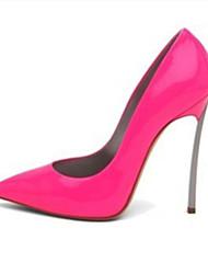 Feminino-SaltosSalto Agulha-Rosa cor de Rosa Vermelho Rosa Claro Azul Real Champanhe-Couro Envernizado-Escritório & Trabalho Casual