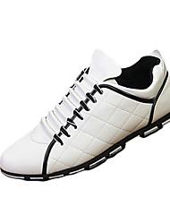 Для мужчин Кеды Удобная обувь сутулятся сапоги Полиуретан Весна Осень Повседневные Удобная обувь сутулятся сапоги Рюши На плоской подошве