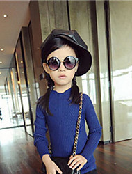 Girl Casual/Daily Solid Sweater & Cardigan,Rayon Winter Fall Long Sleeve