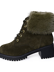 Women's Boots Fashion Boots Suede Fall Winter Casual Fashion Boots Black Army Green Under 1in