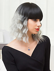la moda peinados bob sin tapa pelucas ombre ondulado natural del pelo humano se funde