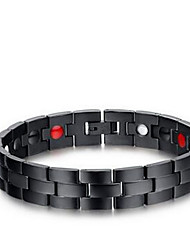 Men's Jewelry Health Care Black Titanium Steel Magnetic Therapy Bracelet Christmas Gifts