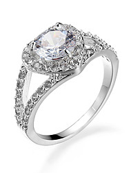 Brand Design Big Cubic Zirconia Engagement Wedding Rings Heart ring Love for women Romantic Jewelry