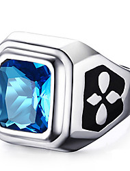 Unisex Fashion 316L Stainless Steel Personality Vintage Diamond Inlay Jewel Zircon Rings Casual/Daily 1pc