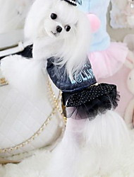 Dog Coat Dog Clothes Winter Cartoon Cute White Black