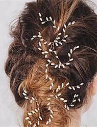 Damen Künstliche Perle Kopfschmuck-Hochzeit Besondere Anlässe Haarklammer 3 Stück