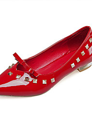 Women's Flats Fall Winter Comfort PU Casual Low Heel Others Black Red White Other