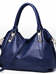 Women Bags All Seasons PU Tote with Rivet for Event/Party Formal Office & Career Blue White Black Wine Brown