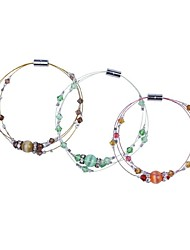 Women's Bangles Crystal Glass Opal Fashion Purple Red Green Jewelry 1pc