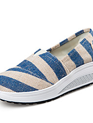 Women's Loafers & Slip-Ons Spring Summer Fall Winter Other Canvas Casual Wedge Heel Others Blue Pink Red Walking
