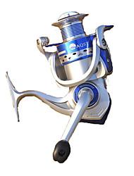 Molinetes de Pesca Molinetes Rotativos 5.2:1 10 Rolamentos Destro Pesca Geral-4000