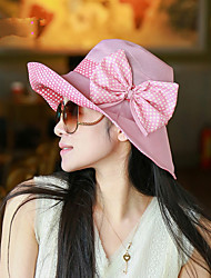 Fashion Summer New Bow Big Cap Hat Hat Shade Beach Cap Hat
