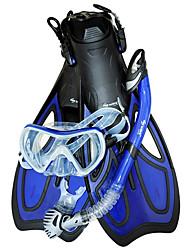 Очки для подводного плавания Набор для снорклинга Дайвинг Ласты Дайвинг Маски Дайвинг Пакеты Трубки Сухая трубка Длинные ластыПодводное