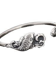 Bracelet Manchettes Bracelets Argent sterling Personnalisé Quotidien Décontracté Bijoux Cadeau Argent,1pc