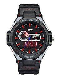 Men TVG Multifunction Dual Display Luminous Quartz Waterproof Outdoor Sports Watch