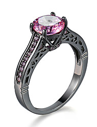 New Hot Pink CZ black gold Ring Jewelry Fashion Jewelry Wholesale  95072