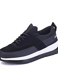 Homme-Extérieure Décontracté Sport-Noir Rouge Noir et blanc-Talon Plat-Confort-Chaussures d'Athlétisme-Matières Personnalisées