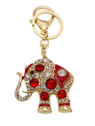 Creative Keychain diamond key buckle Thailand elephant Keychain