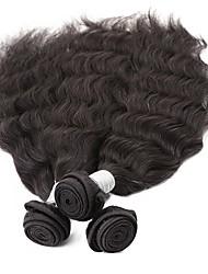 Cheap 6A Grade 20'' 3Pcs/lot 300g 100g/pc Unprocessed Brazilian Virgin Human Hair Weave Natural Wave Remy  Human Hair High Quality