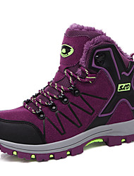 Men's Athletic Shoes Winter Comfort PU Outdoor Flat Heel Lace-up Green Purple Light Grey Dark Grey Rose Pink Hiking