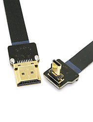 Cy® HDMI 1.4-HDMI Micro vergoldet Adapter 1080P 0.1m (0.3Ft)