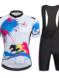 AOZHIDIAN Summer Cycling Jersey Short Sleeves BIB Shorts Ropa Ciclismo Cycling Clothing Suits #AZD024