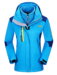 Wandern Trainingsanzug Damen Wasserdicht warm halten Windundurchlässig Frühling Herbst Winter Terylen Grün Rot Blau S M L XL XXL XXXL
