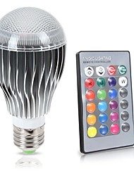 LED RGB Bulb E27/E26  8W 850LM Remote Control Color Changing 16 Color Lamp 85-265V