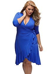 Women's Whimsy Wrap Flounce Plus Size Dress