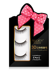 3D Quantity Eyelashes Full Strip Lashes Eyes Crisscross Volumized Handmade Fiber Transparent Band