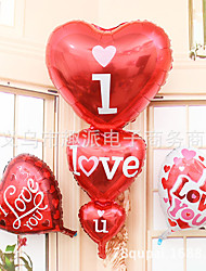 Super large three heart I heart YOU aluminum film balloon wedding venue decoration balloons