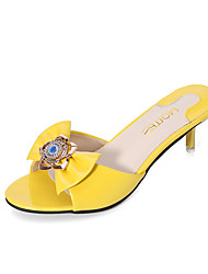 Women's Sandals Spring Summer Other PU Casual Low Heel Others Black Blue Yellow Red White