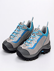 Men's Athletic Shoes Spring Summer Comfort Suede Tulle Outdoor Athletic Low Heel Lace-up Light Blue Light Grey Hiking