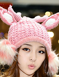 Fashion Autumn And Winter Tide Models Magic Doll Hair Ball Antler Wool Hat Single Hat Women Wool Hat