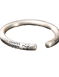Men's Women's Bangles Sterling Silver Personalized Silver Jewelry 1pc