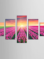 Canvas Set Fantasy Abstract Landscape Modern Realism,Five Panels Canvas Any Shape Print Wall Decor For Home Decoration