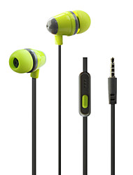 HUAST HST-53 Plastic shell earphone with microphone in ear earphones for girls head phone earbuds noodle line For mp3