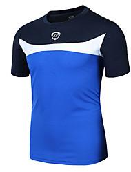 Sportif Maillot de Cyclisme Homme Manches courtes VéloRespirable / Séchage rapide / Résistant aux ultraviolets / Anti-transpiration /