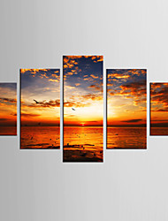 Canvas Set Still Life Animal Style Modern,Five Panels Canvas Any Shape Print Wall Decor For Home Decoration