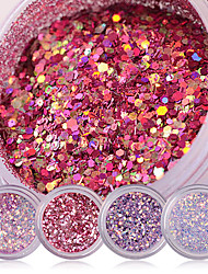Shiny Nail Glitter Powder Red Pink Purple Nail Sequins Manicure Nail Art