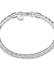 Women's Chain Bracelet Copper Silver Plated Bohemia Punk Personalized Fashion Snake Silver Jewelry 1pc