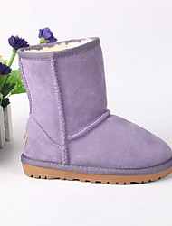 Girl's Boots Winter Other Leather Outdoor Casual Flat Heel Other